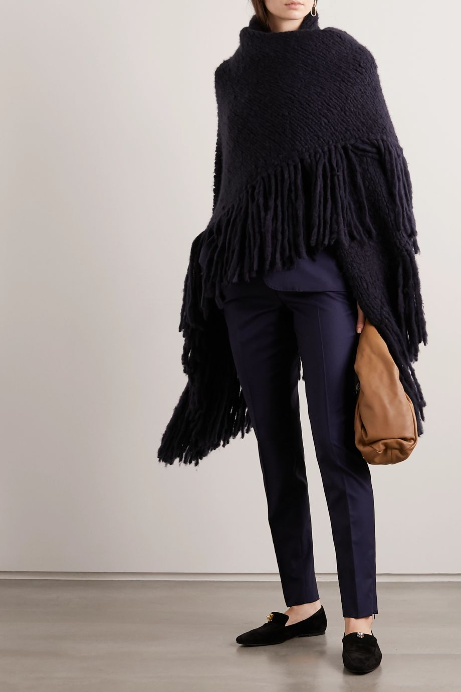Gabriela Hearst + NET SUSTAIN Lauren fringed cashmere wrap