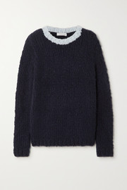 Gabriela Hearst + NET SUSTAIN Lawrence two-tone cashmere sweater