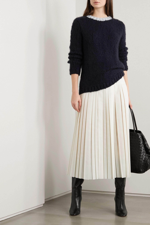Gabriela Hearst + NET SUSTAIN Lawrence two-tone cashmere sweater