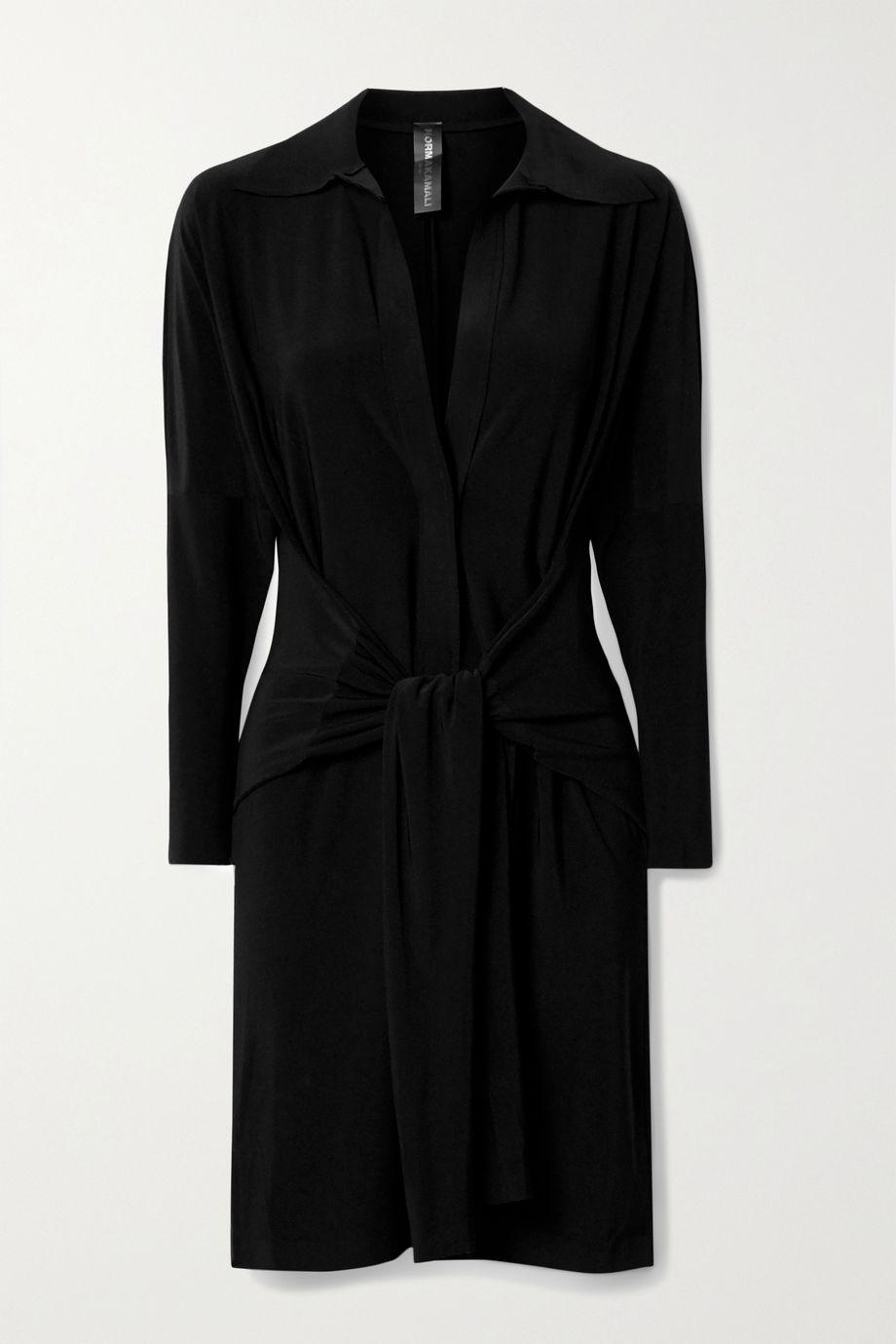 Norma Kamali Mini-robe en jersey stretch nouée sur le devant