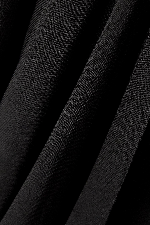 Norma Kamali Cropped stretch-jersey wrap top