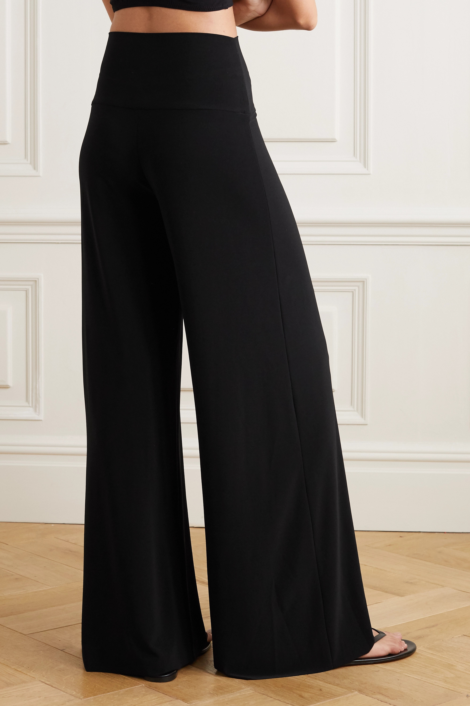 Norma Kamali Elephant stretch-jersey wide-leg pants
