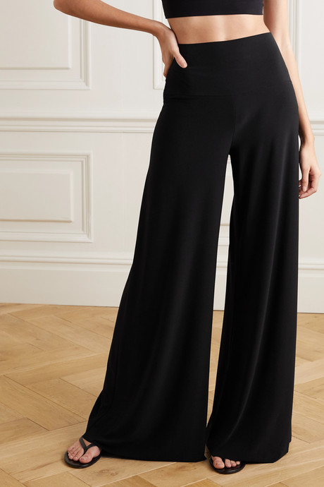 Elephant stretch-jersey wide-leg pants