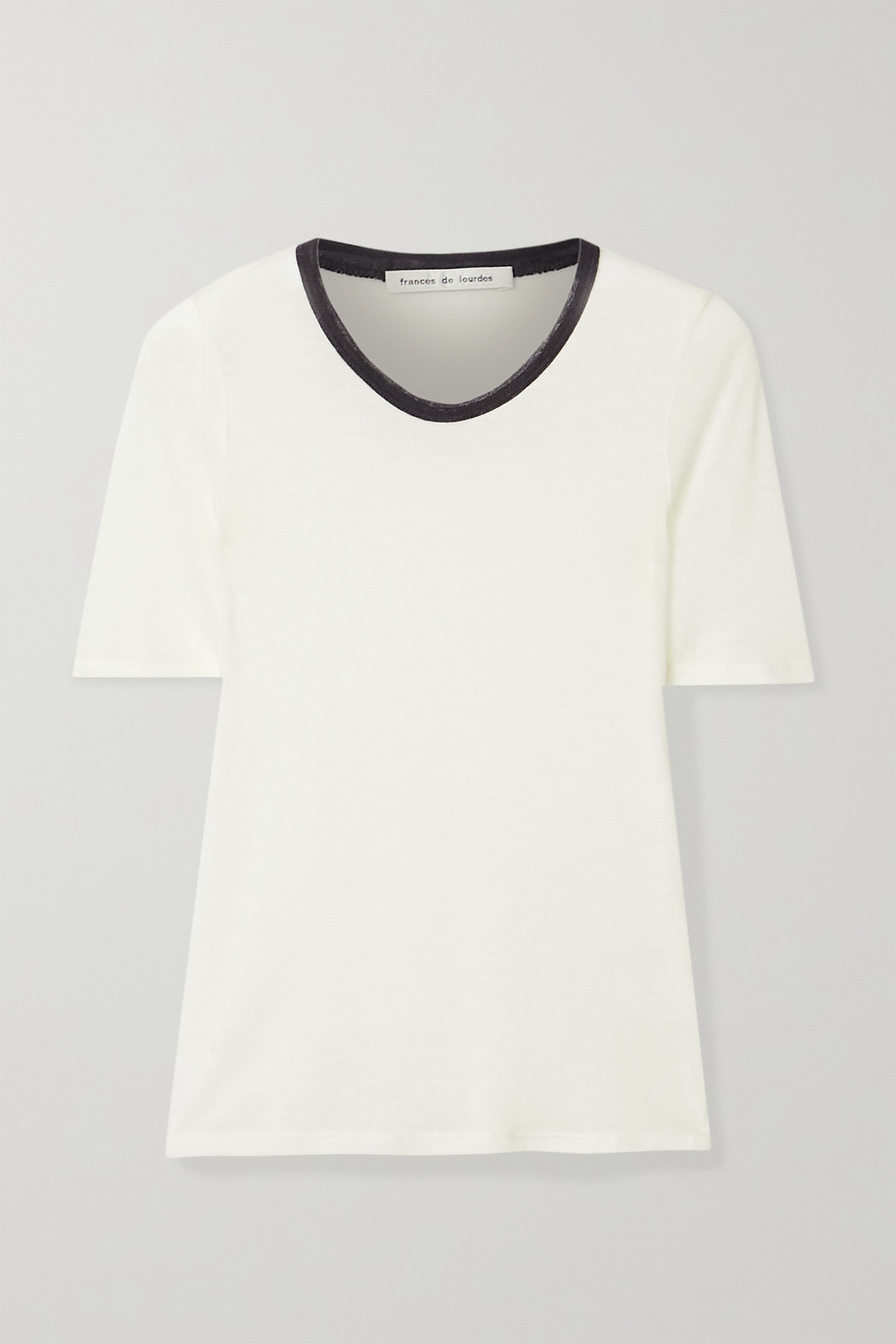 Frances de Lourdes Serge slub cashmere and silk-blend T-shirt