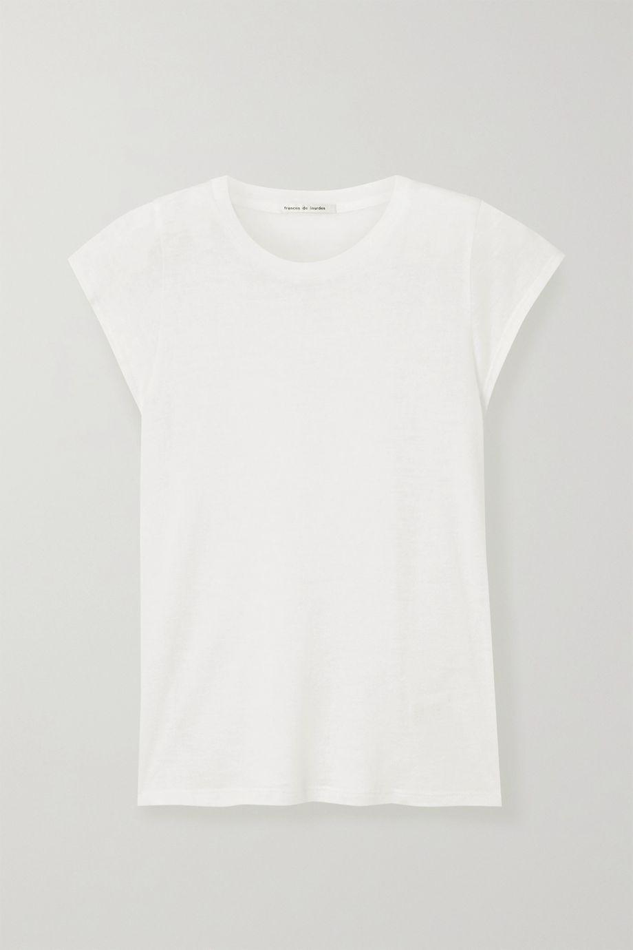 Frances de Lourdes Garçon slub cashmere and silk-blend T-shirt