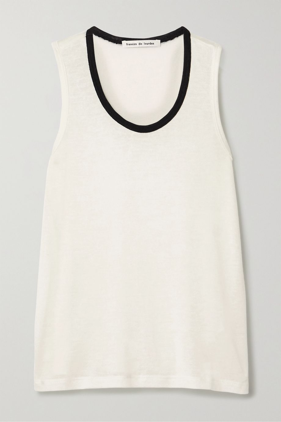 Frances de Lourdes Lennon two-tone cashmere and silk-blend tank