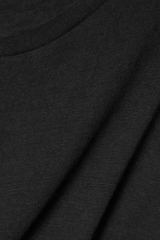 Black Brando Slub Cashmere And Silk-blend Tank | Frances De Lourdes