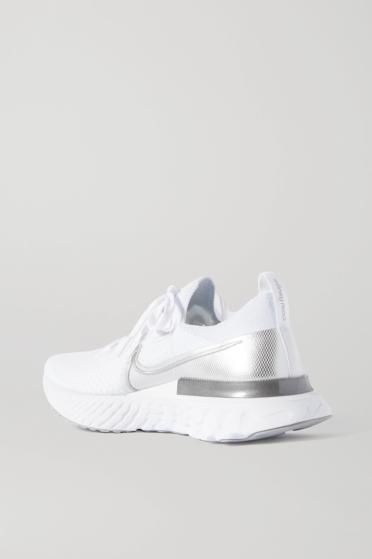 Nike React Infinity Run metallic Flyknit sneakers