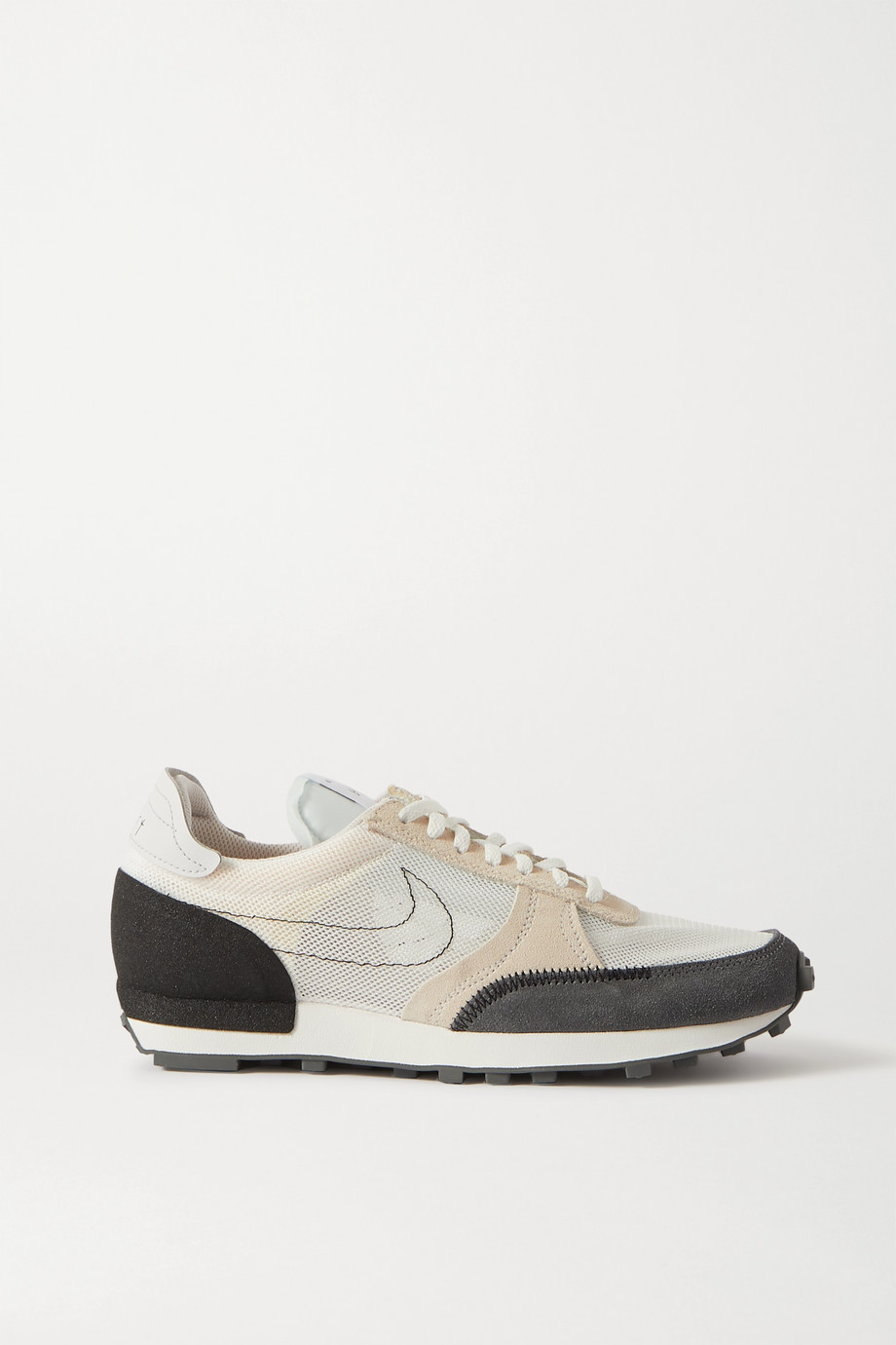 Nike Daybreak Type embroidered leather-trimmed mesh and suede sneakers