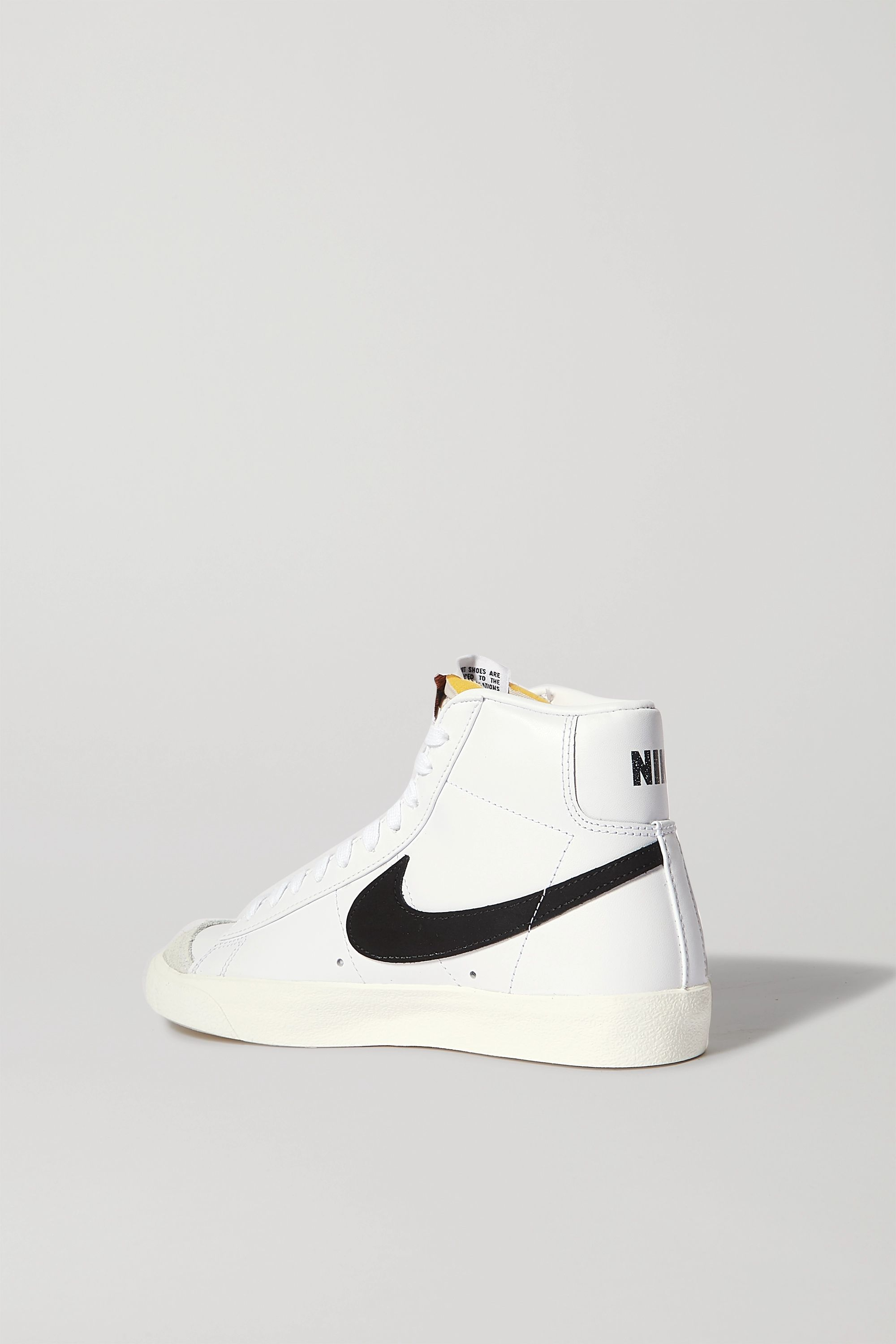 Nike Blazer Mid suede-trimmed leather high-top sneakers