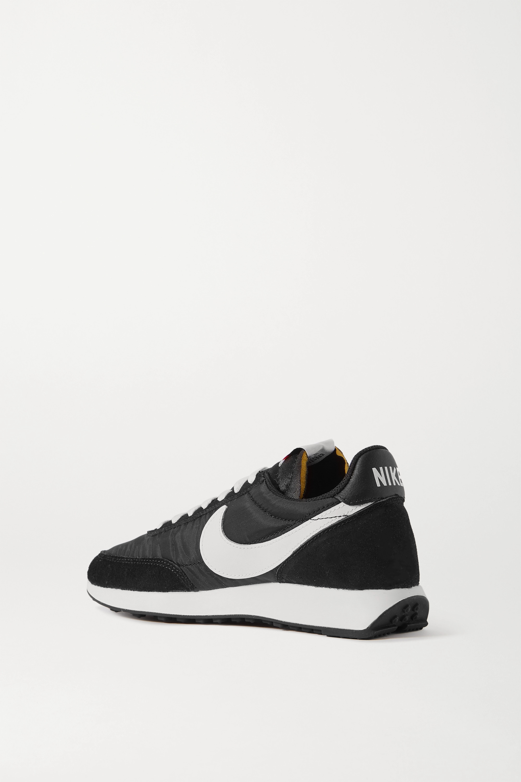 Black Air Tailwind 79 Leather-trimmed Shell And Suede Sneakers | Nike