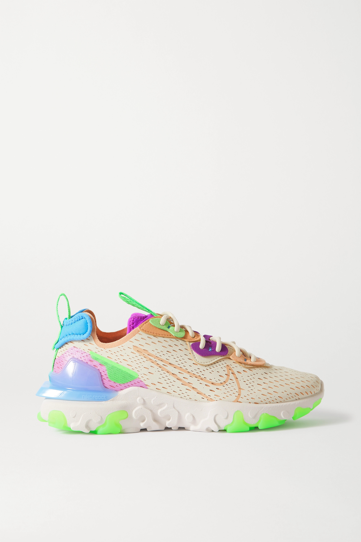 Nike React Vision Sneakers aus Mesh, Filz und Kunstleder