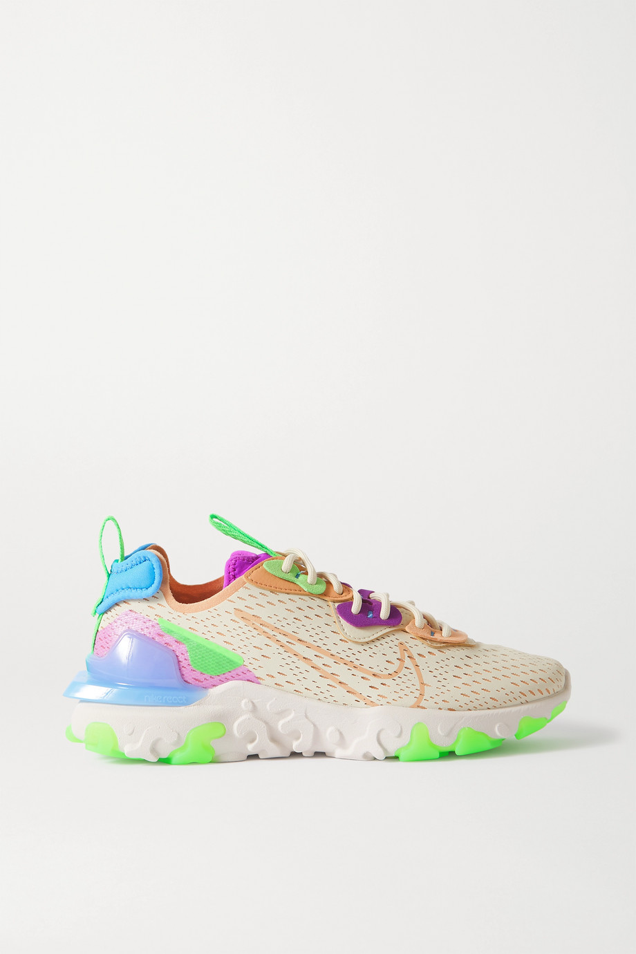 Nike React Vision mesh, felt and faux leather sneakers