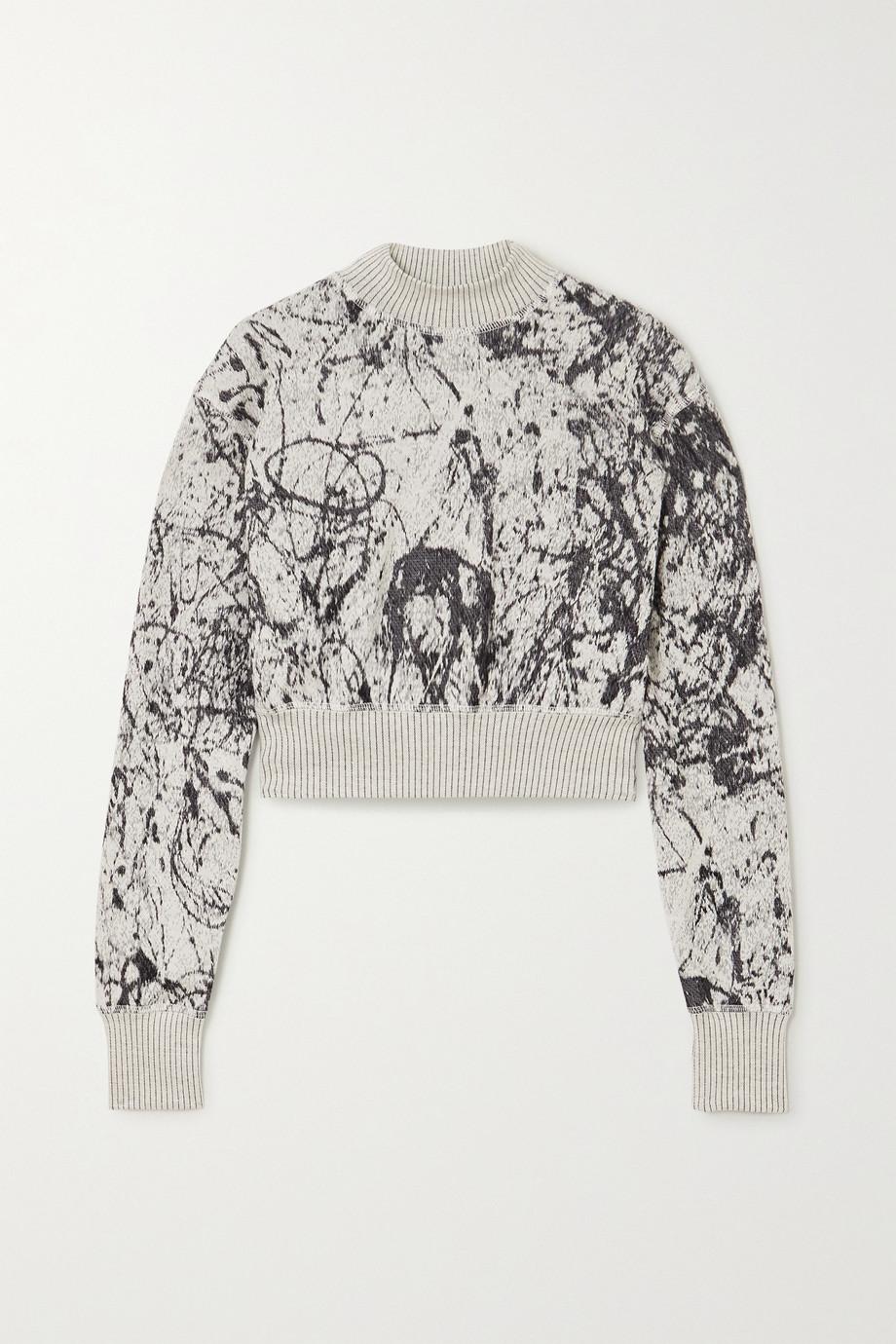 TWENTY Montréal Pollock Hyper Reality verkürztes Sweatshirt aus einer Baumwollmischung mit Intarsienmuster