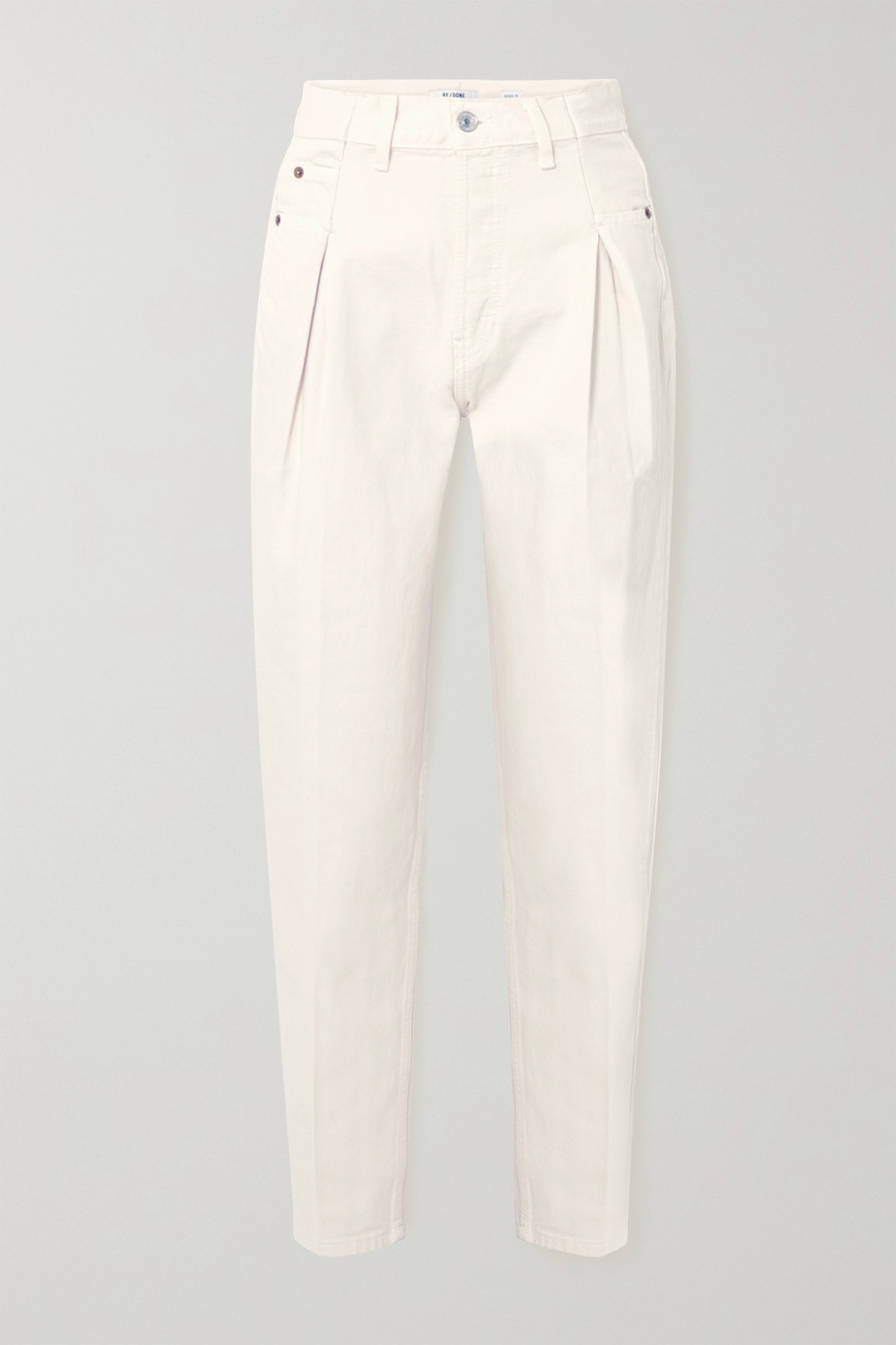 RE/DONE 40s Zoot pleated high-rise straight-leg jeans