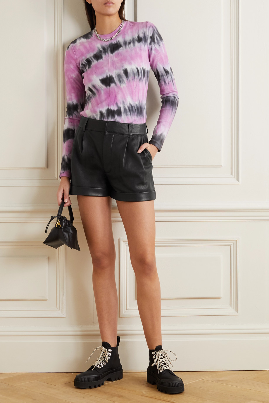 RE/DONE Leather shorts