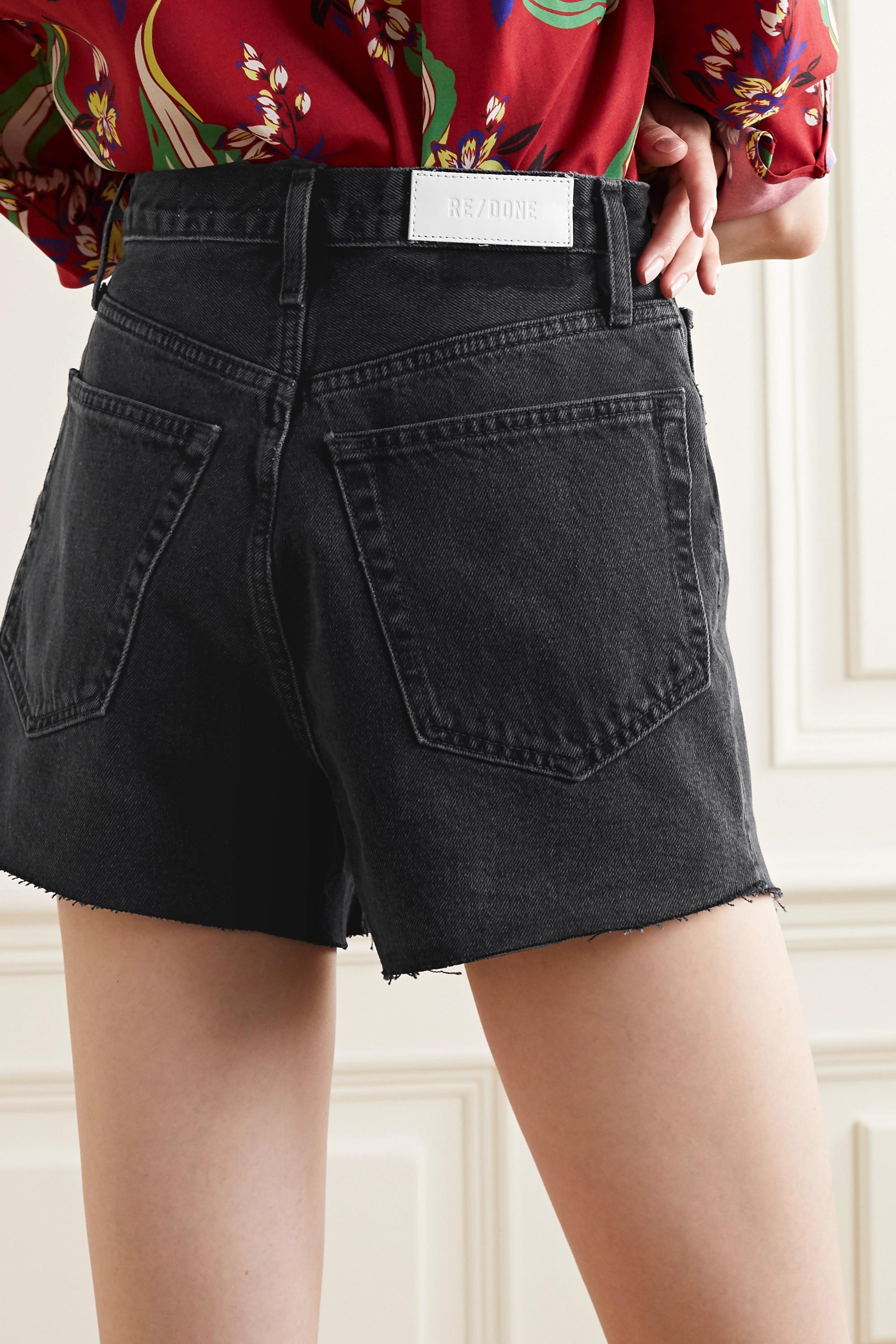 RE/DONE 50s frayed denim shorts