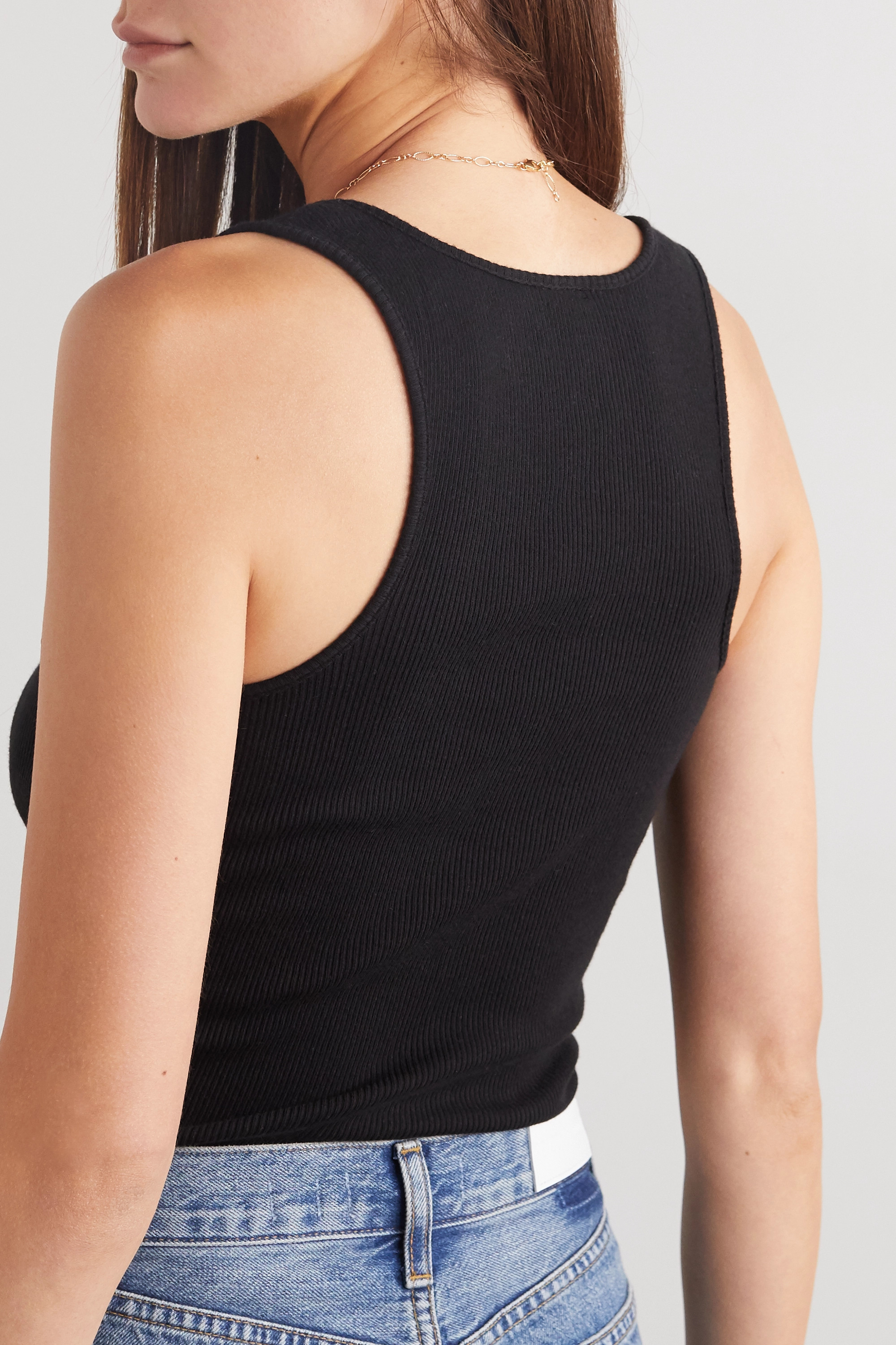 RE/DONE Ribbed cotton-jersey tank