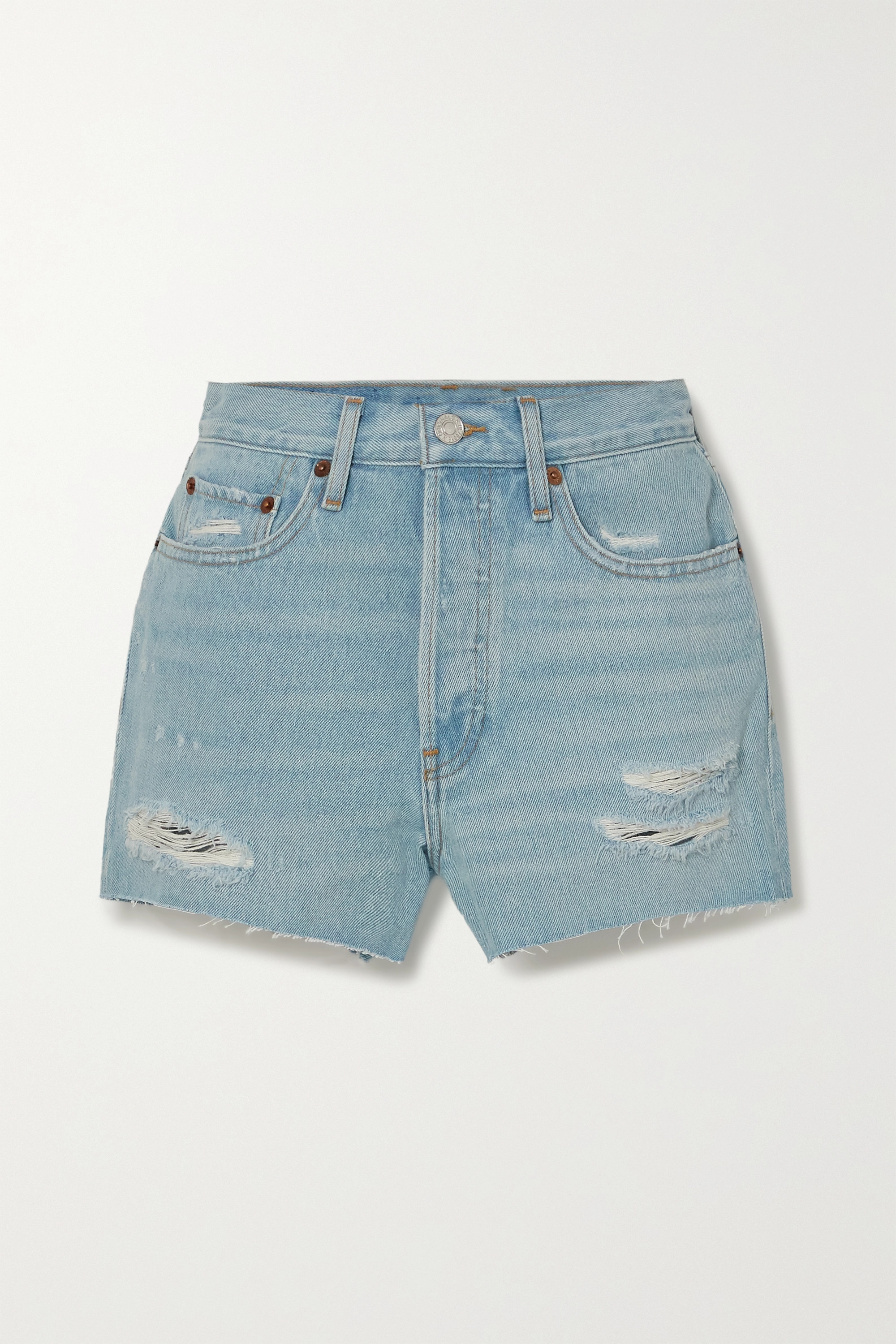 RE/DONE - 70s distressed denim shorts