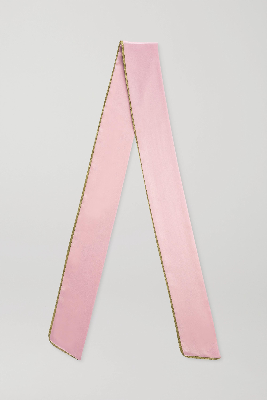Balmain Paris Hair Couture Lurex-trimmed silk-satin hair scarf - Baby-pink