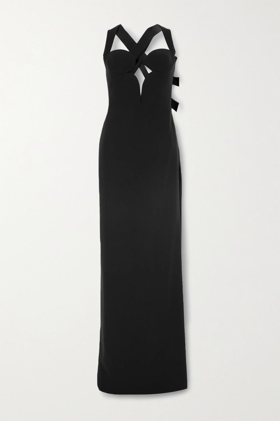 Versace Robe aus Stretch-Crêpe mit Cut-outs