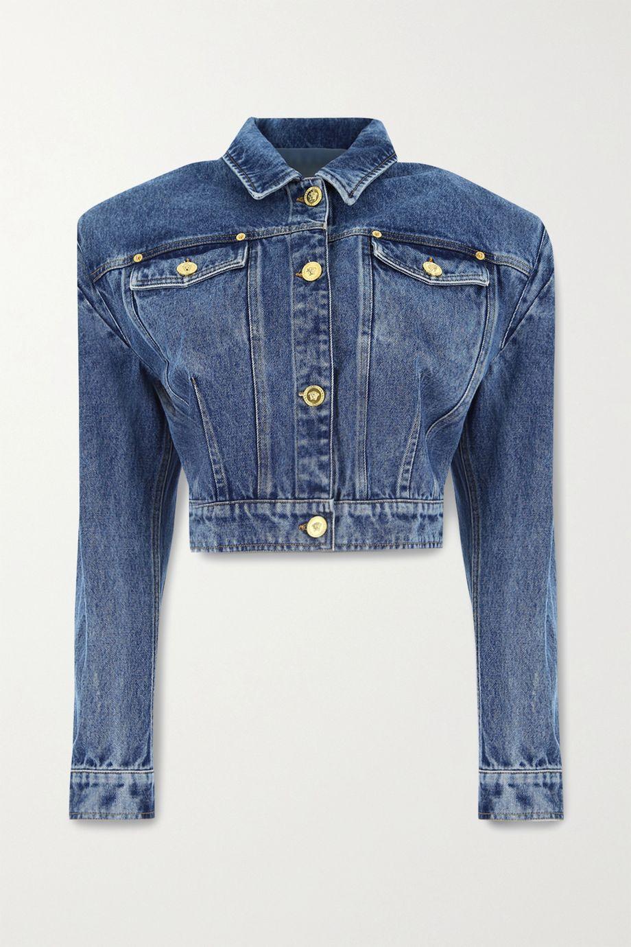 Versace Verkürzte Jeansjacke