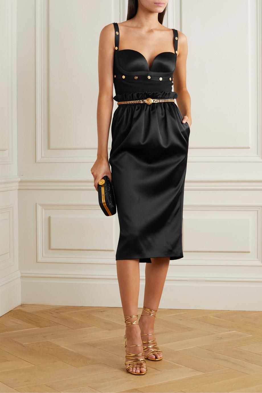 Versace Satin midi skirt