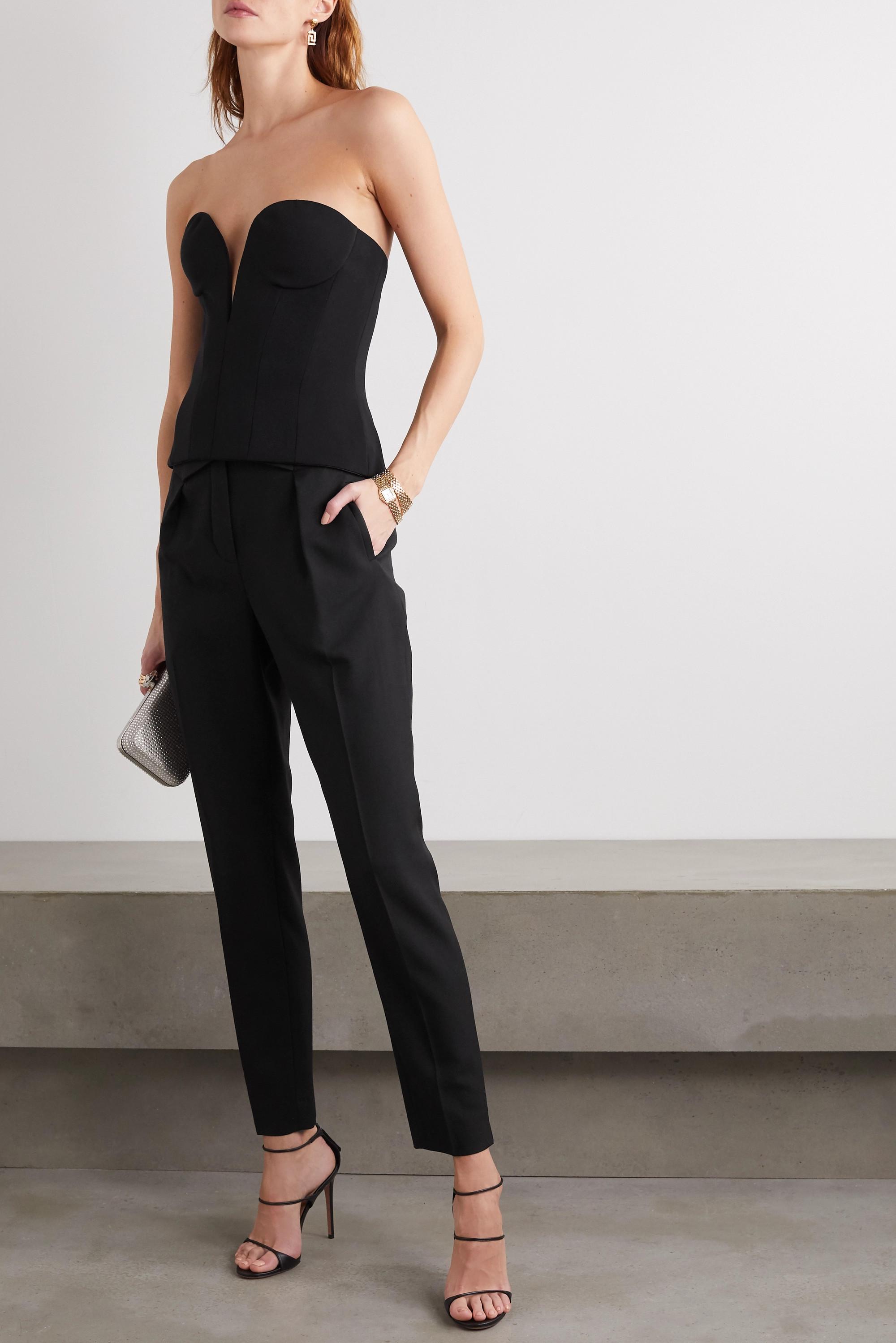 Versace Stretch-crepe bustier top