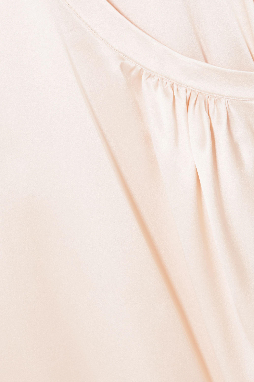 Jil Sander 不对称丝缎裹身连衣裙