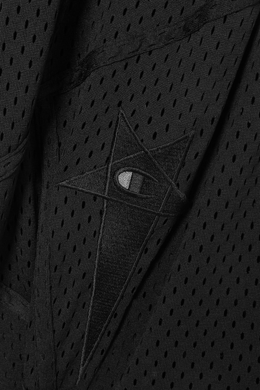 Rick Owens + Champion Ixta Dylan appliquéd mesh top