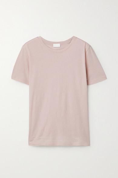 Handvaerk Pima Cotton-jersey T-shirt In Pink