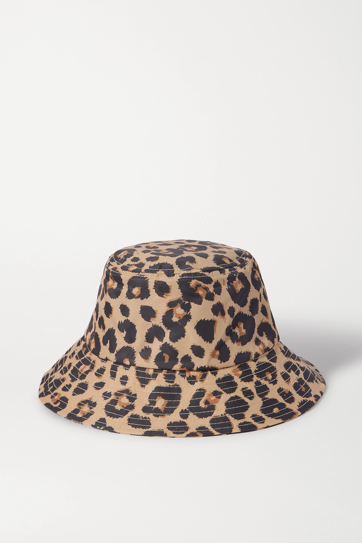 Loeffler Randall Leopard-print shell bucket hat