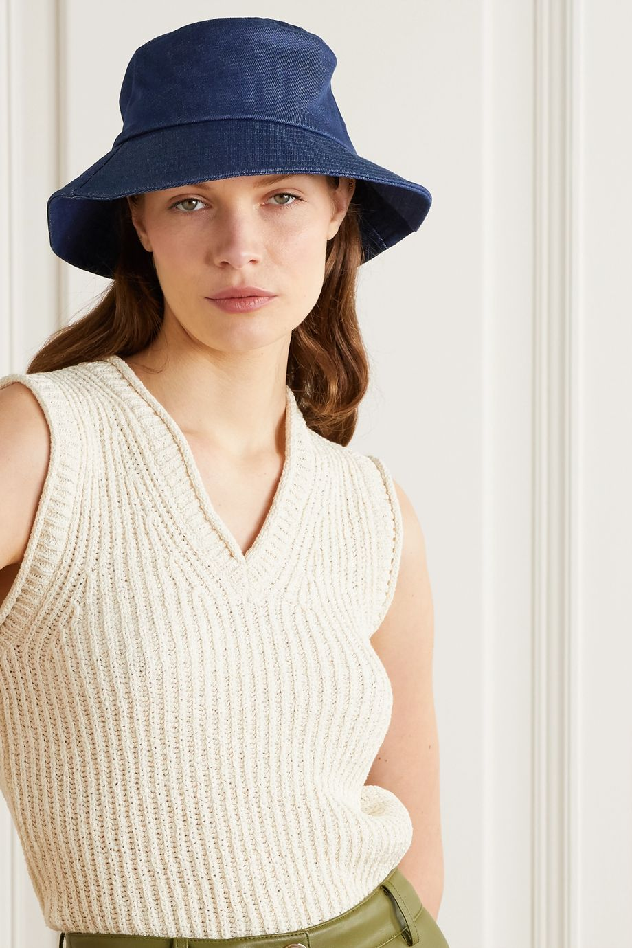 Loeffler Randall Ivy denim bucket hat