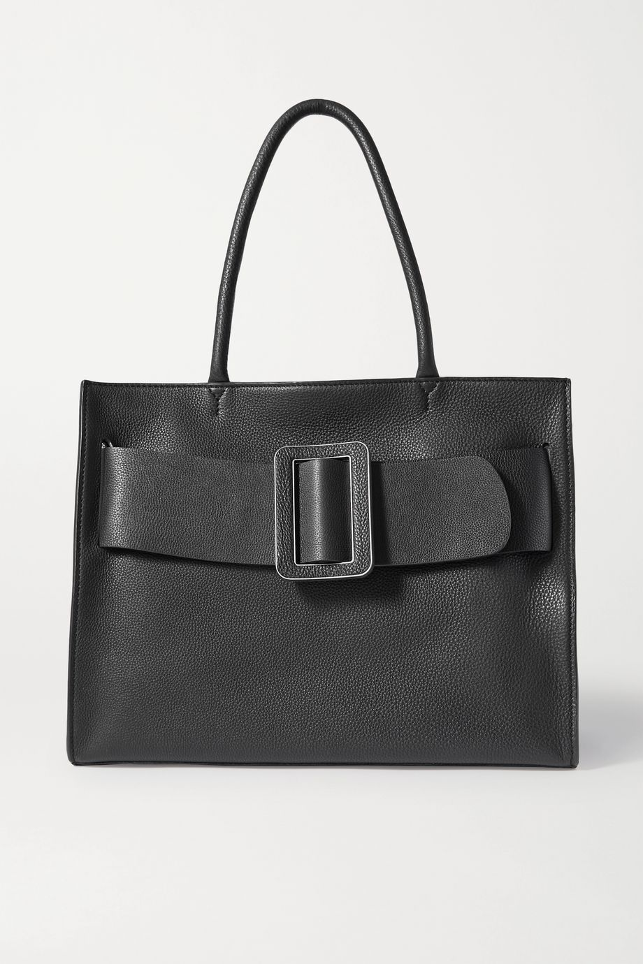 BOYY Bobby Soft large buckled textured-leather tote