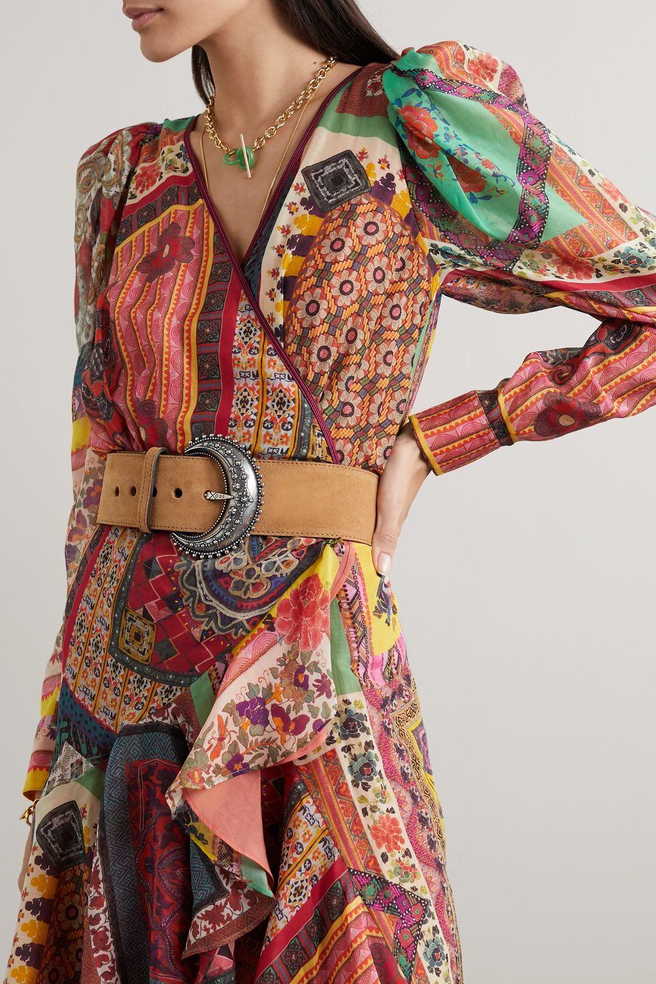 Etro Suede waist belt
