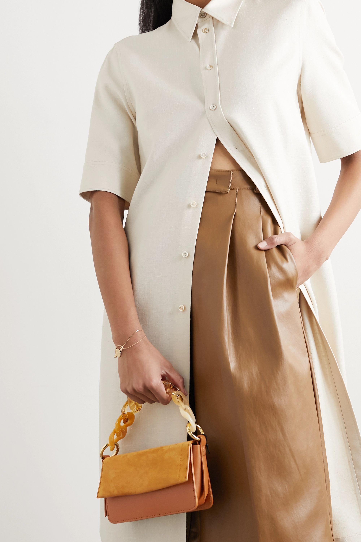Carolina Santo Domingo Sofia mini Schultertasche aus Veloursleder und Leder