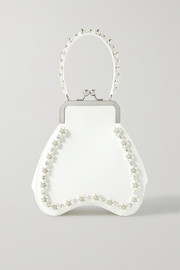 Simone Rocha Bean embellished leather tote