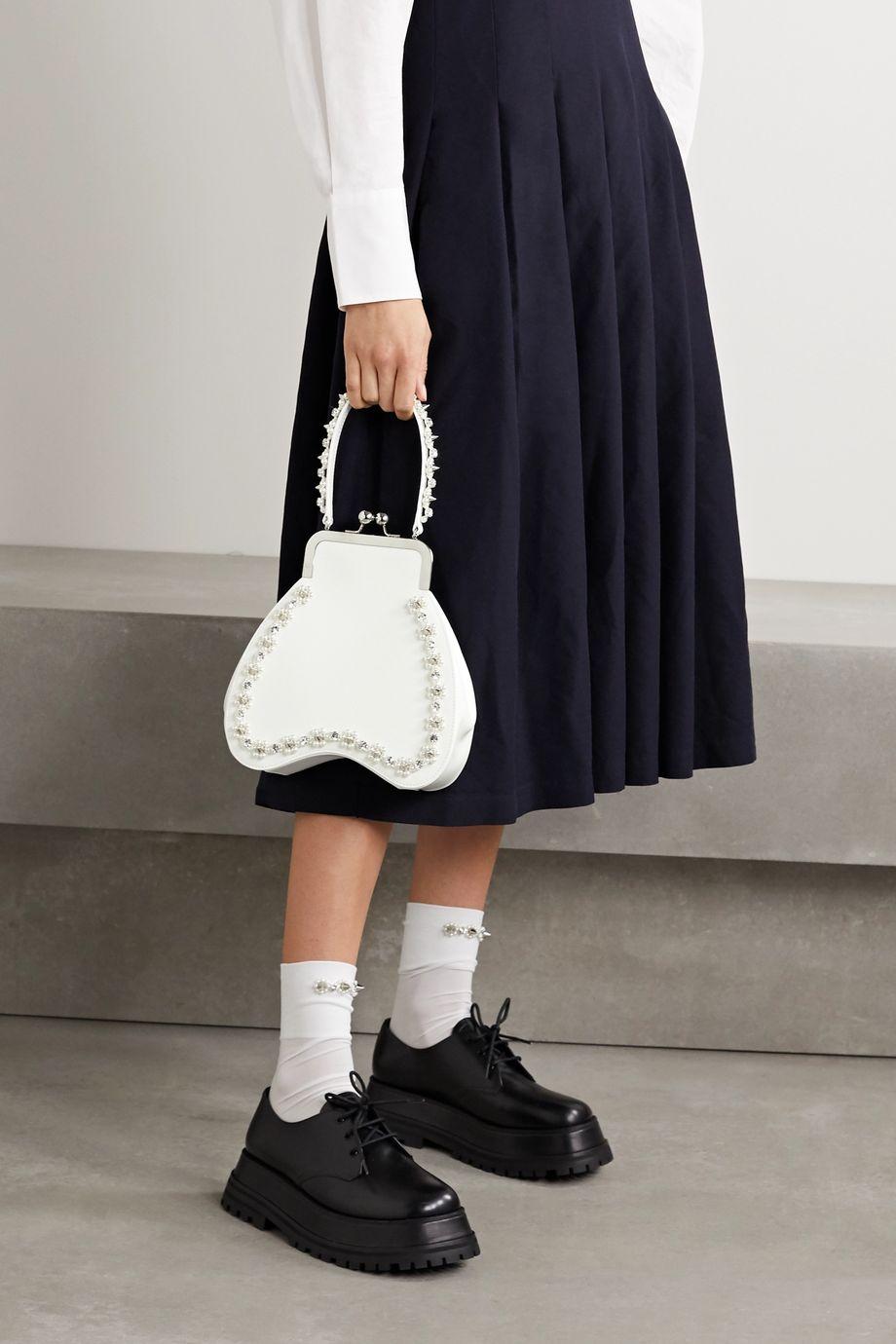 Simone Rocha Bean embellished leather tote