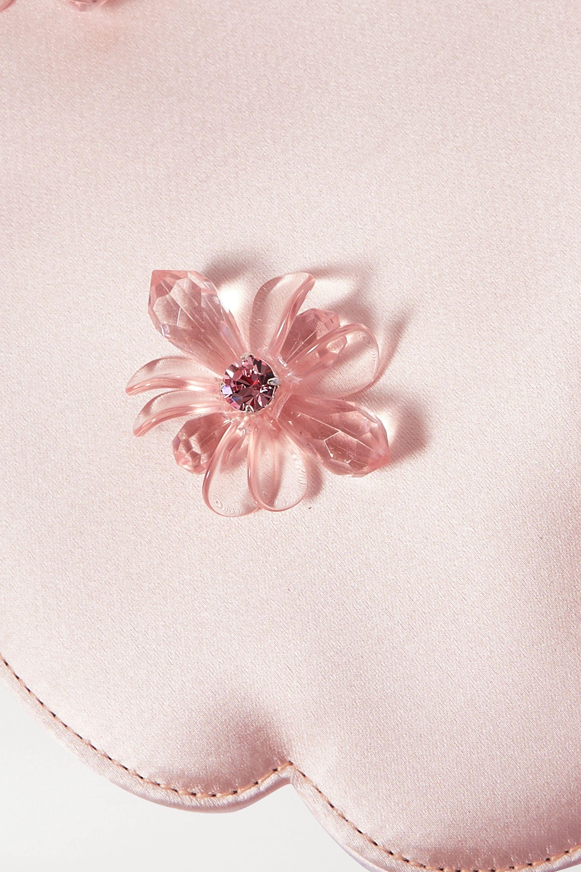 Simone Rocha Flower 珠饰缎布迷你手提包