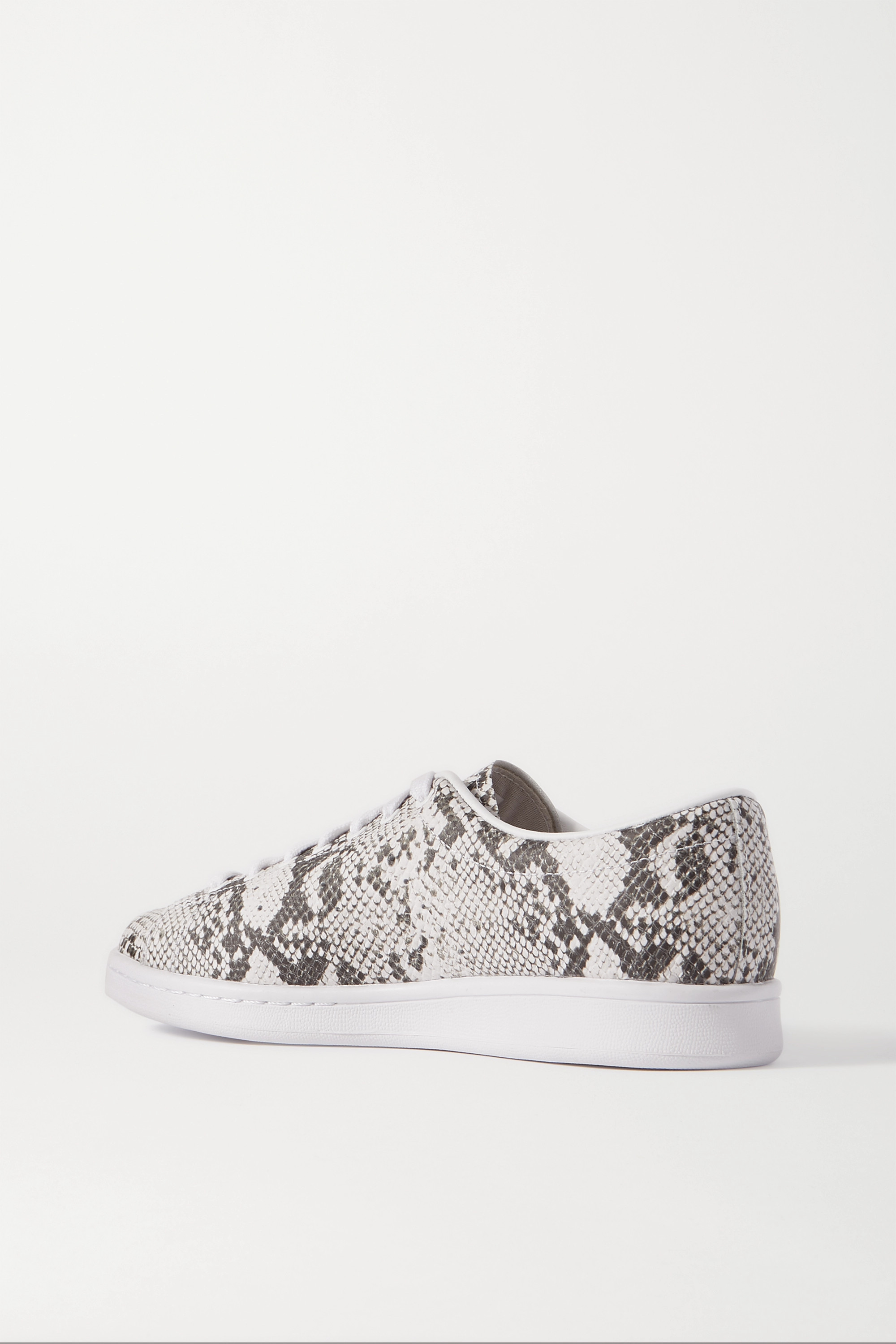 White + Hyke Aoh-001 Snake-effect Leather Sneakers | Adidas Originals