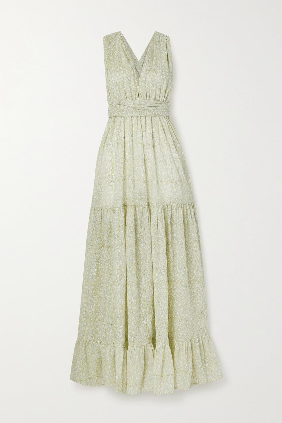 Hannah Artwear Portofino tiered floral-print cotton maxi dress