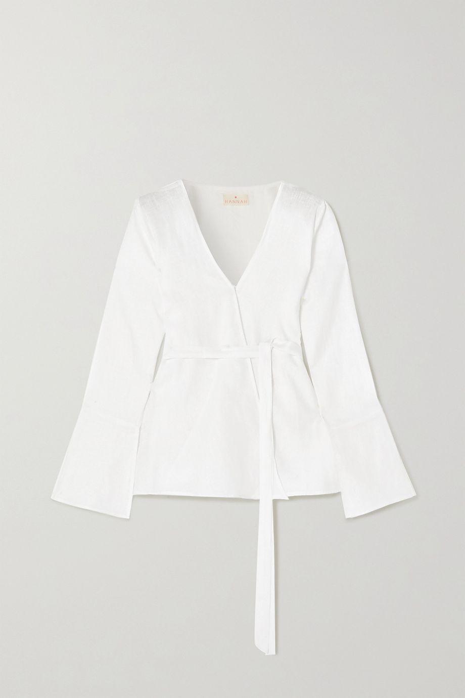 Hannah Artwear Panarea linen wrap top