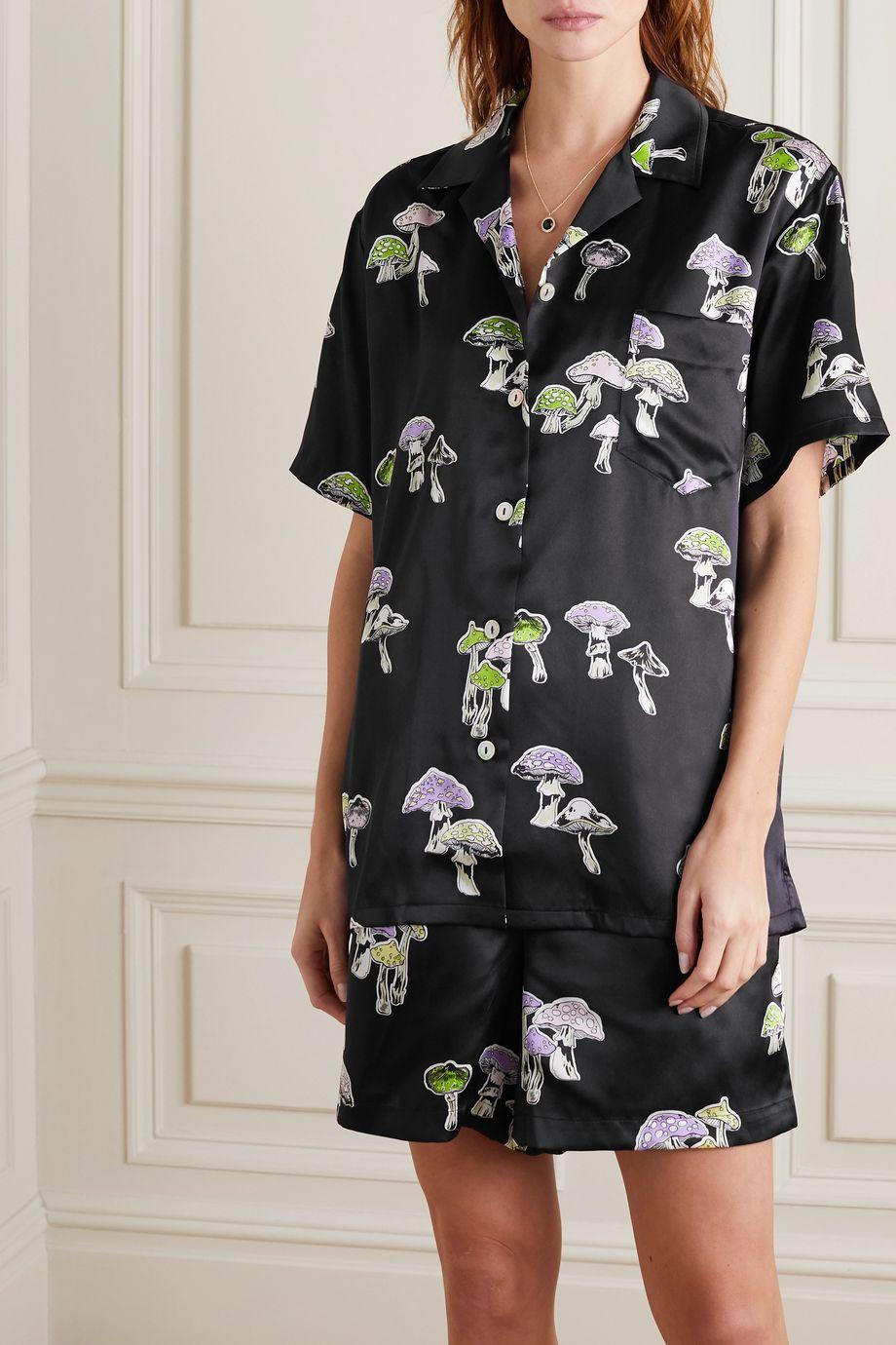 Olivia von Halle Emeli bedruckter Pyjama aus Seide