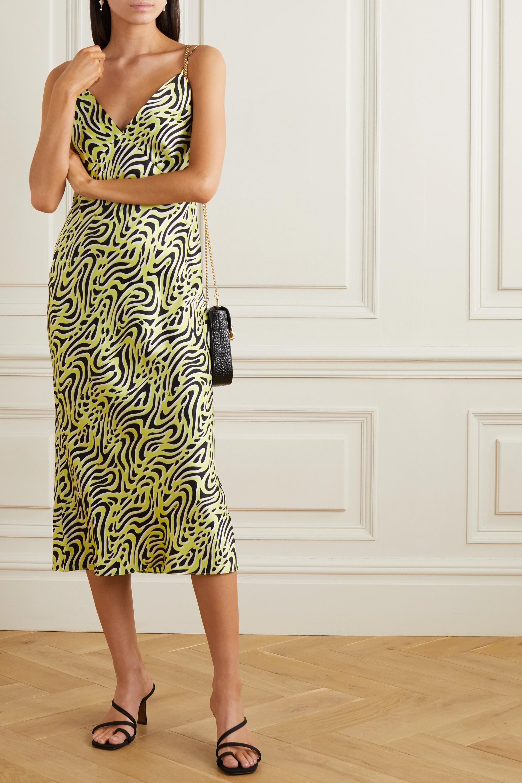 Olivia von Halle Issa printed silk-satin midi dress