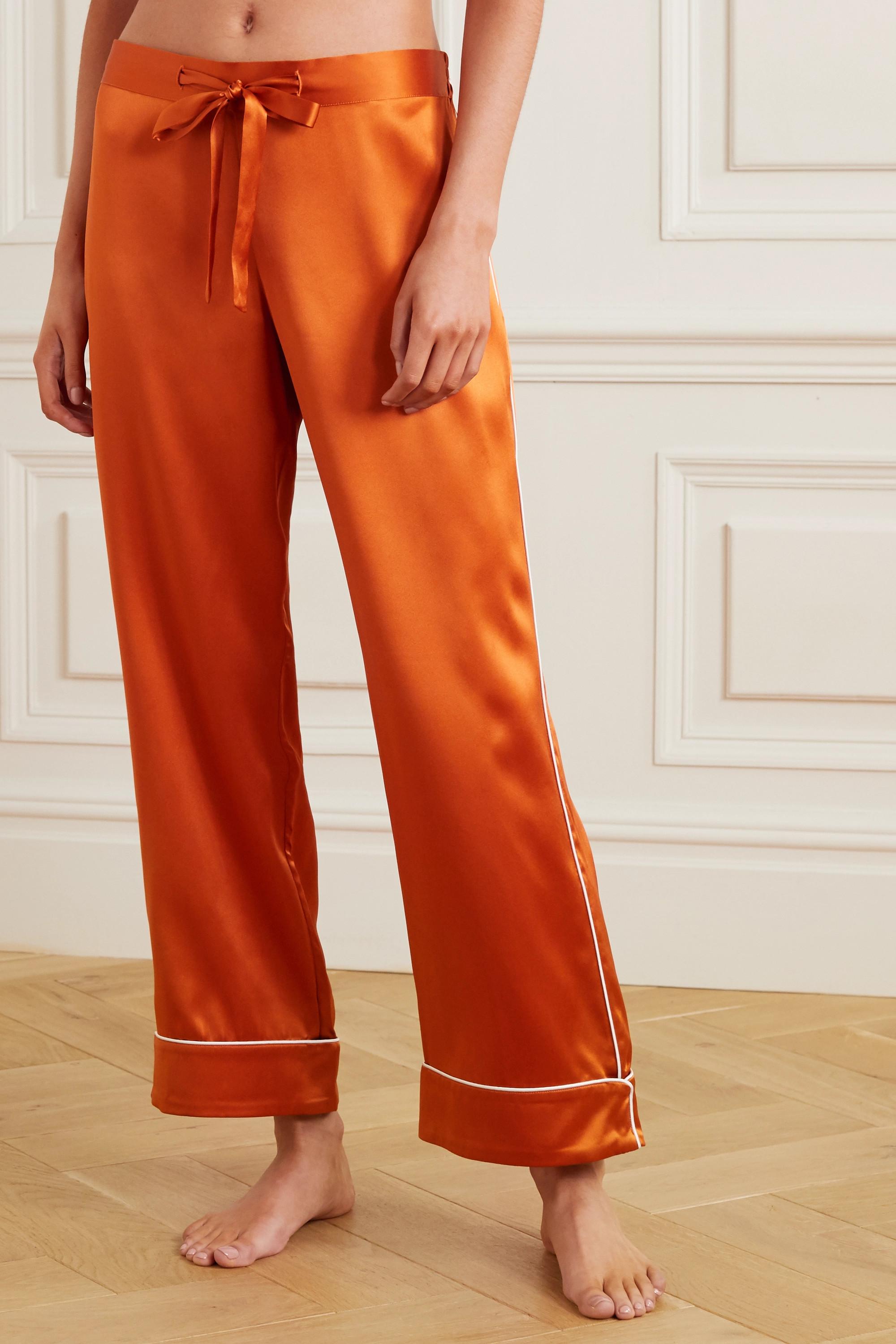 Olivia von Halle Pyjama en satin de soie Coco