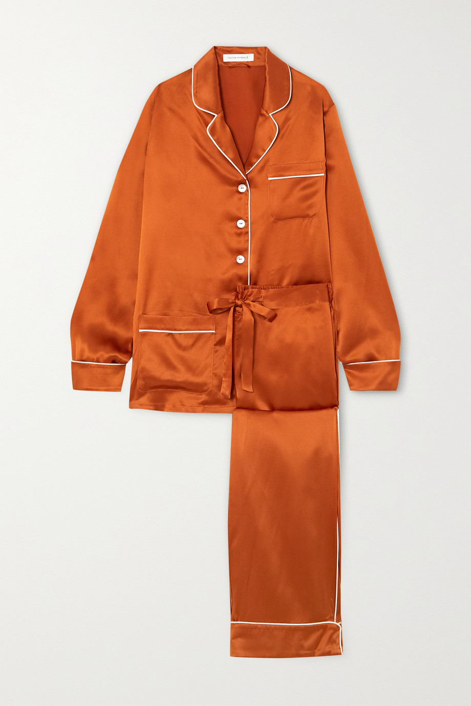 Olivia von Halle Coco silk-satin pajama set