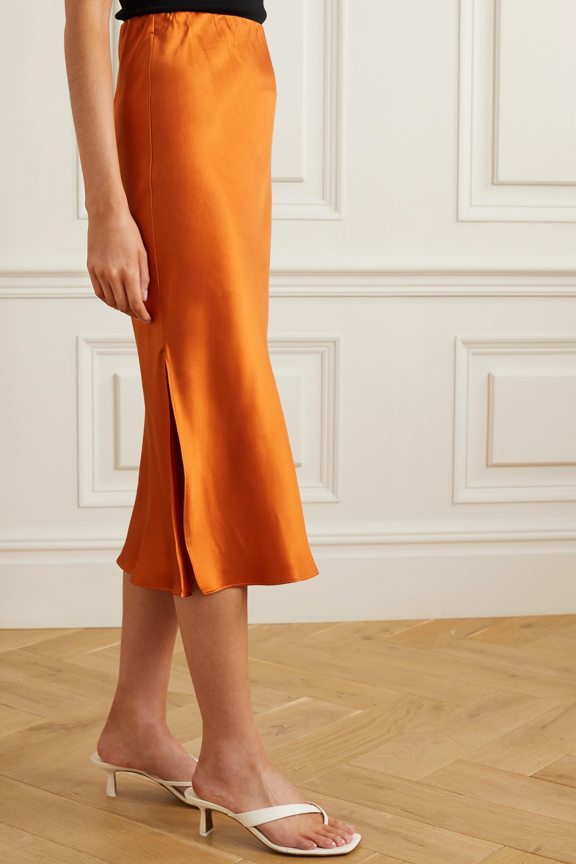 Olivia von Halle Isla silk-satin midi skirt