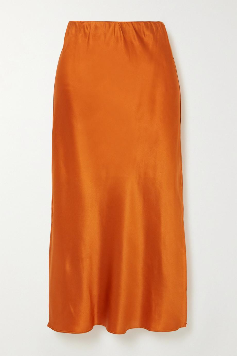 Olivia von Halle Isla 丝缎中长半身裙