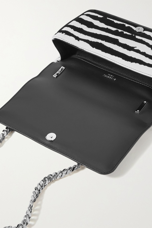 Burberry Leather and velvet shoulder bag