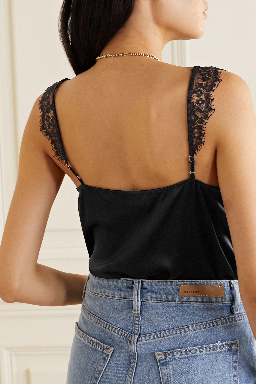 Cami NYC The Mindy lace-paneled silk-charmeuse bodysuit